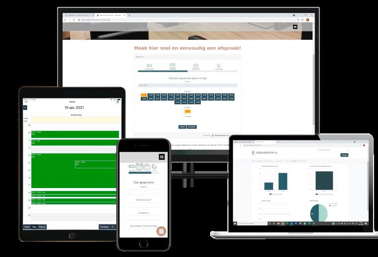 online reserveersysteem met app